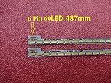 2 piezas / lote 60 LED 487 mm barra de retroiluminación LED para TV LG Innotek 39 pulgadas 7030PKG 60ea T390HVN01.0 73.39T03.003-0-JS1