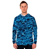 Vapor Apparel Men's UPF 50+ UV Sun Protection Long Sleeve Performance Hoodie for Sports and Outdoor Lifestyle, X-Large, Mossy Oak Elements Marlin