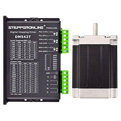 STEPPERONLINE 1 eje Schrittmotor CNC Kit 1.9Nm Nema 23 Schrittmotor & Schrittmotortreiber para CNC Graviermaschine,3D impresora