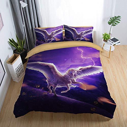 Bedclothes-Blanket bettbezug 200x200cm,3D-DREI-teiliger Satz Satz des Sterns leer-4_140x210 cm.