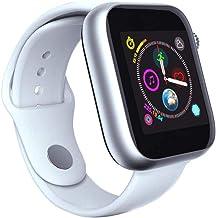 SmartWatch, una y Cincuenta y Cuatro SIM 2G Hombres SmartWatch para Las Mujeres Llamadas podómetro Reloj Bluetooth, Negro