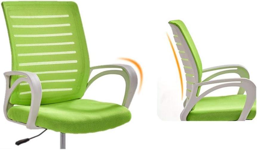 Zhou-WD Chaise d'ordinateur, chaise ergonomique en maille d'ordinateur avec accoudoir pivotant chaise de bureau de soutien lombaire Chaises de bureau (Color : Blue) Orange