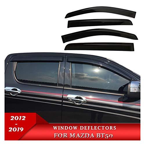 Deflectores de Viento Inyección Black Weathershield Weather Shields Vellera Visor para Mazda BT50 2012-2019 2020