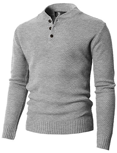 Cashmere Sweaters for Mens Mock Collar