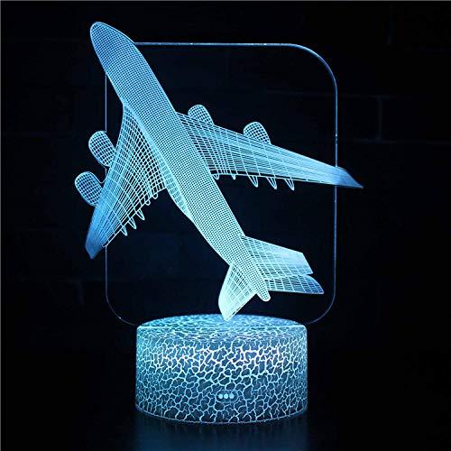 Lámpara de ilusión LED 3D, lámpara de decoración de 16 colores, lámpara de escritorio con control remoto, juguetes de regalo para niños y niñas