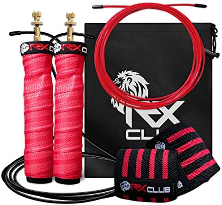 RxClub Speed Jump Rope Perfect for Double Unders 2 in 1 2 Skipping Workout Cables Set 1 Thick product image