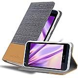 Cadorabo Hülle für HTC Desire 626G in HELL GRAU BRAUN -