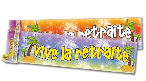 Bannière Vive la retraite - Taille Unique