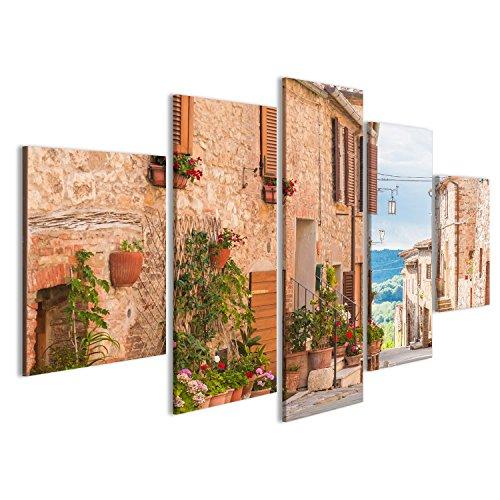 islandburner Bild Bilder auf Leinwand Die mittelalterliche alte Stadt in Toskana, Italien Wandbild, Poster, Leinwandbild GUH