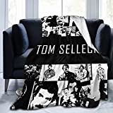 Tom Selleck Soft and Comfortable Warm Fleece Throw Blankets Yoga Blankets Beach Blanket Picnic Blankets for Sofa Bed Camping Travel