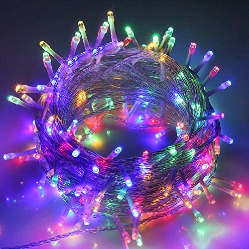 VTECHOLOGY Christmas String Lights 33FT 100 LEDs Indoor String Lights 8 Modes with End to End product image