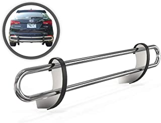VANGUARD VGRBG-0798SS Multi-fit Rear Bumper Guard Stainless Steel Double Tube Style