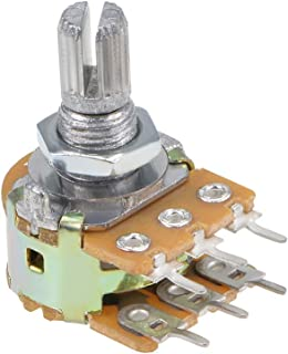 uxcell 2K Ohm Linear Taper Potentiometer B2K Knurled Shaft 6 Terminals Rotary Variable Resistors