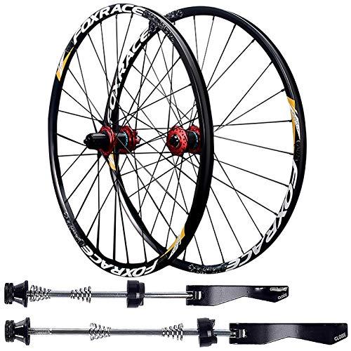 Juego de Ruedas de Bicicleta 27.5'/29' Ultra Ligera Aleación de Aluminio MTB Bicicleta Frente Rueda/Trasero Carbono Hub Freno de Disco QR/TA 7/8/9/10/11/12 Velocidad ( Color : Black , Size : QR )