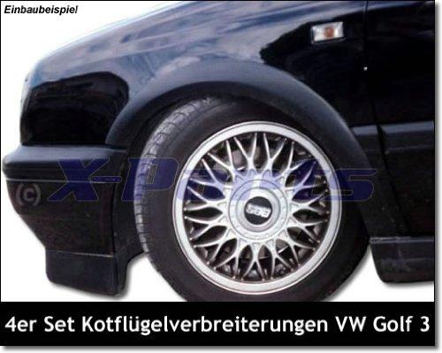 4er Set Kotflügelverbreiterung Radlaufleisten Kotflügel Kunststoff 1099145