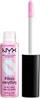 NYX PROFESSIONAL MAKEUP #thisiseverything Lip Oil, Sheer Blush, 0.027 Ounce