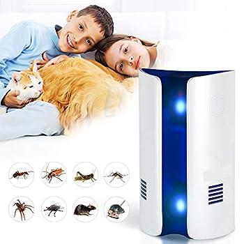 WAN Chat électronique, Souris Multi-Fonctionnelle Tueur de Moustique Double ultrasons + Onde électromagnétique électronique Pourfendeur insectifuge Répulsif