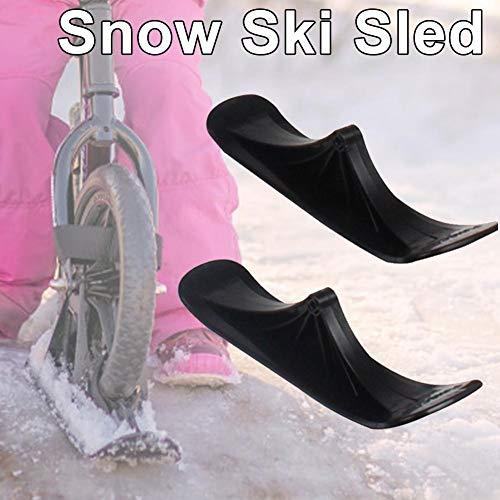 fancyU Schnee-Ski-Set Für Laufräder, Schnee-Ski-Set-Zubehör Für Skirutschen Kinder-Schneeroller Mit Doppeltem Verwendungszweck Für Räder Ski-Schlitten-Zubehör