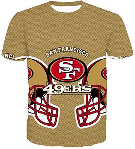 HY-Sweatshirt Hombres 3D San Francisco 49ERS SF NFL Patrón Uniforme Patrón Camiseta Impresión Digital Amantes Sudaderas Camiseta