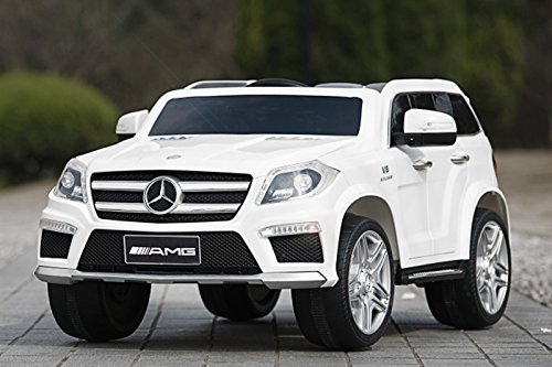 RC Auto kaufen Kinderauto Bild 3: Kaufexpress Mercedes Benz GL63 AMG Jeep SUV Lizenz Kinderfahrzeug mit 2X 35W Motor Kinderauto Elektroauto Fernbedienung MP3 Anschluss in Weiß*