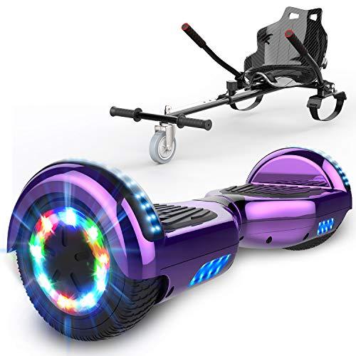 GEARSTONE HoverBoard monopatín + HoverKart con Bluetooth e iluminación LED 6,5 pulgadas...