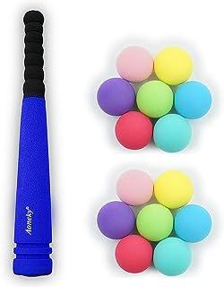 (アワンキー) Aoneky 野球 バット 練習するセット スポンジ おもちゃ トレーニング 贈り物 安全安心 42cm(ブルー、1バット+14ボール)