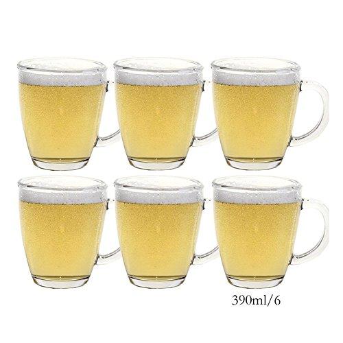 FZG Copa De Vidrio Set Bebida Agua Té Leche Café Jugo Bebida Cerveza De Gran Tamaño para La Oficina En Casa Cafetería Despensa (Color : #2)