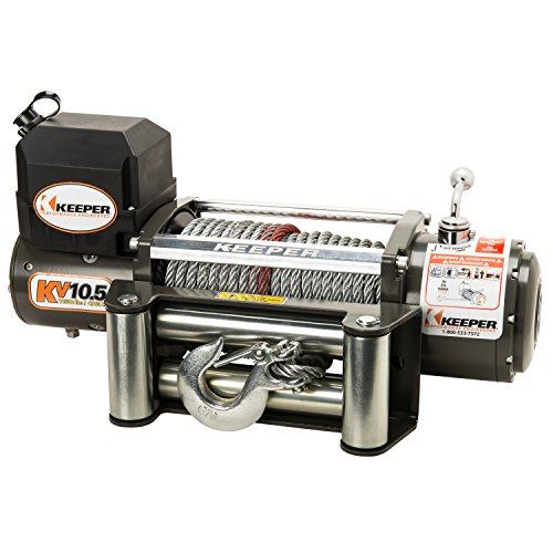 Keeper KV10.5 12V DC Utility, Trailer and Recovery Winch - 10500 lbs. Capacity