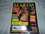 Maxim Magazine Anna Kournikova August 2004 Issue (Amanda Beard, Kelly Carlson, Marion Jones, Misty May)
