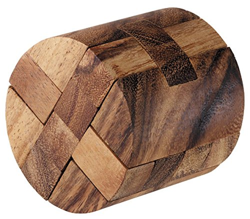 Logica Juegos Art. Cilindro Mágico - Rompecabezas de Madera Fina 3D - Dificultad 4/6 Extrema - Colección Leonardo da Vinci