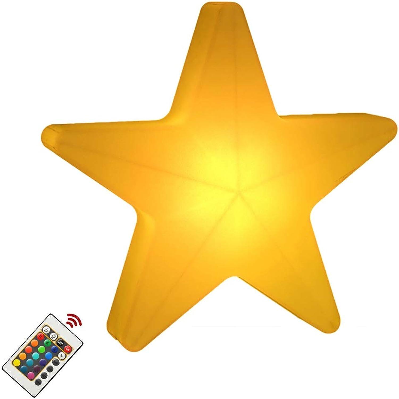 LED Dimmbare Stehlampe, 16RGB Farben, Die Pentagramm-Stehlampe Mit Fernbedienung IP65 Verdunkeln Wasserdicht Und Akku Kreative Auen-   Innendekoration PET-Tischlampe (Größe   30  30  10CM)