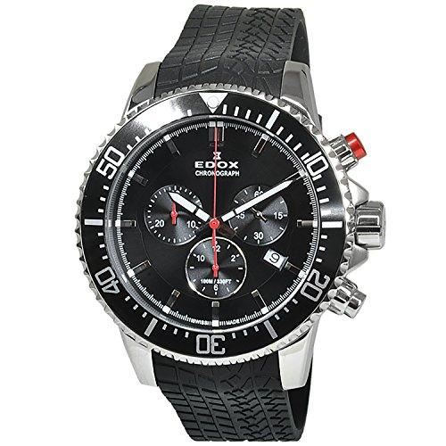 Edox chronorally orologio Uomo Analogico Al quarzo con cinturino in...