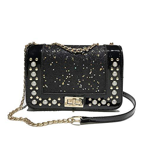 Small Crossbody Bags for Women Purses Lightweight Handbags Shoulder Bag(Black)