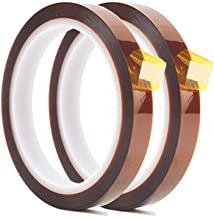 2 Rolls 10mm X 33m 108ft Heat Tape,Heat Resistant Tape,Heat Transfer Tape,Thermal Tape,Sublimation Tape,Heat Vinyl Press Tape,No Residue,High Temperature Tape for Electronics Masking,Soldering, PCB