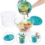 GRINDAL Centrifugadora Ensalada De Berela, Centrifugadora de Lechugas Color Azul, Escurridor de Ensalada Libre de BPA, Centrifugador de Verduras de 2,5 L