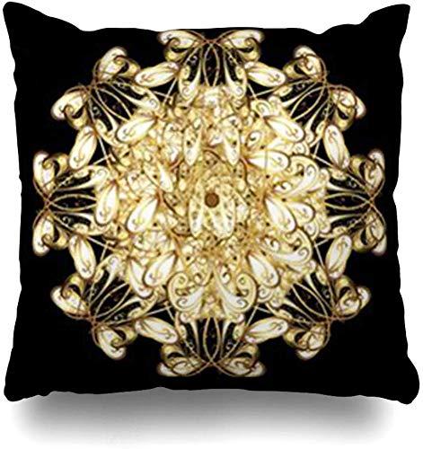 GFGKKGJFF Flora - Funda de cojín con diseño de Flores árabes, Color Amarillo...