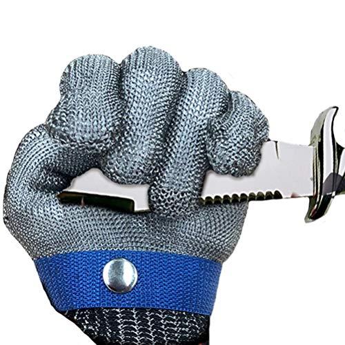 Schnittfeste Handschuhe-XHZ Einzelne Anti-Schneid-Handschuhe, fünfstufige Schutzhandschuhe, Sicherheitshandschuhe zum Schweißen von Küchenmetzgern. Grau, Größe: XS - XXXL (Size : X-Large)