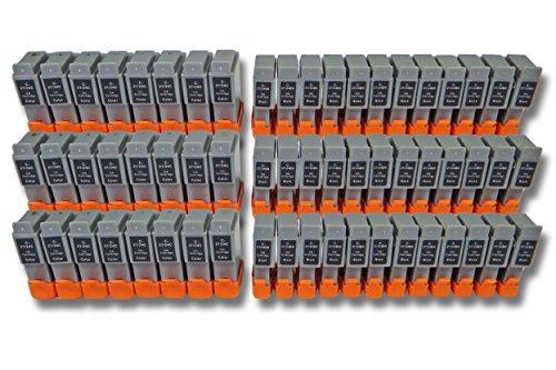 vhbw 60x Cartuchos para Impresora Cartuchos de Tinta Set para Canon SmartBase BJC-2100, BJC-2115, BJC-2120 por BCI-24BK, BCI-24C.