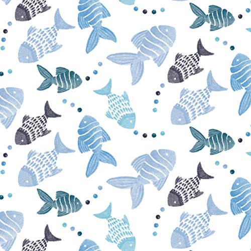 aden+anais(エイデンアンドアネイ)【日本正規品】モスリンコットンおくるみ1枚GoneFishing-Fish0か月~ASWC10005J