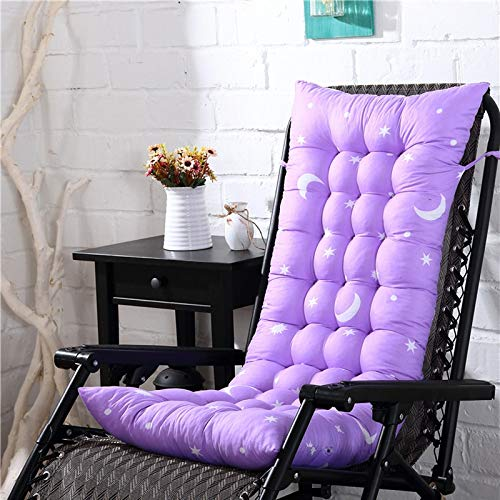 Rocking Chair Mat, Patio Indoor Outdoor Chair Pads, Supple Sofa Cushions Kitchen Dining Chair Mat Comfort Non-skid For Garden 48X125cm light purple