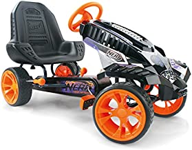 Nerf Battle Racer Pedal Go Kart, Orange/Grey/Black