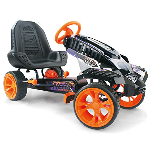 Nerf Battle Racer Pedal Go Kart, Orange/Grey/Black