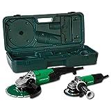 Hitachi Twin Pack Kit meuleuse d'angle–G13SW 125mm + g23st 230mm dans mallette avec accessoires