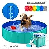 AYITOO Piscina para Perros, Bañera para Perros, Antideslizante Piscina para Mascotas Perros,...