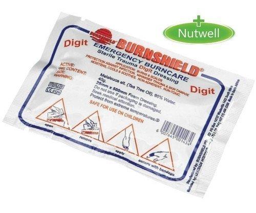 Burnshield Burn Gel Finger Dressing 2.5cm x 50cm First Aid Emergency Burncare by Steroplast
