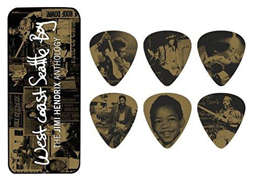 Dunlop DL P 1000 JH PTR10H Jimi Hendrix West Coast Seattle Box Heavy Picks (12 Stück)