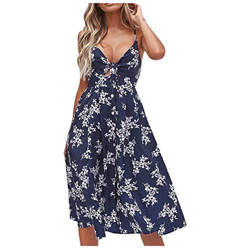 KI-8jcuD Vestido de mujer para el tiempo libre, vestido de flores, vestido floral, vestido midi, vestido fluido, túnica, vestido de fiesta
