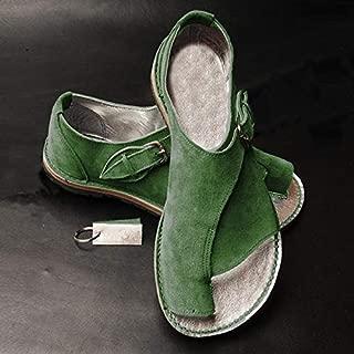 Leorealko Women Comfy Platform Sandal Bunion Corrector Beach Travel Shoes for Summer