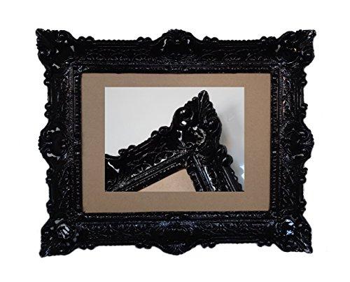 Lnxp ANTIK BAROCK BILDERRAHMEN in Schwarz 56x46cm RECHTECKIG REPRO Bilder für 30x40cm oder 40x30 cm BAROCKRAHMEN Bilder