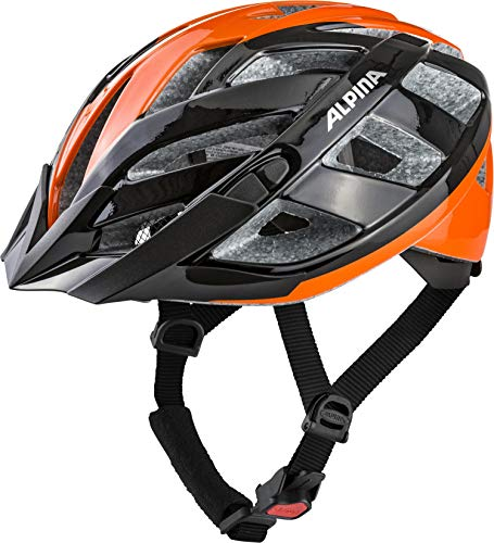 ALPINA PANOMA 2.0 Fahrradhelm, Unisex– Erwachsene, black-orange, 56-59
